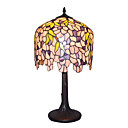 12 Inch Tiffany-style Yellow Chili Pattern Table Lamp (0835-G122085)