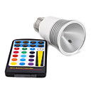 5W LED Light Blub with Color Changing Remote Control (E27 Bulb Base)