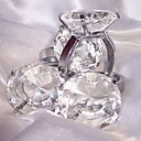 Crystal Diamond Napkin Ring And Paperweight