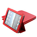 Beschermende Leren Hoes + Standaard Voor iPad (Rood)