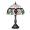 12 Inch Tiffany-style Grape Fruit Floral Edge Table Lamp (0835-G121071)