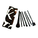 7 Pcs Wool Makeup Brush Set with Free Brown Case