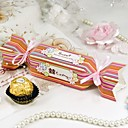 Rainbow Stripe Candy Wrapper Style Favor Box (Set of 12)