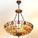 20 Inch Tiffany-style Heart Shape Natural shell Material Inverted Pendant Light (0835-D8004)