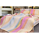 Stripe Bedspread 3pcs Set (Pink)(1418)