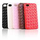 Protective Hard Case for iPhone4 with Leather on Double Sides(3 Pack,Random Colors)