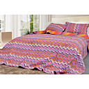 Zigzag Bedspread 3pcs Set (Purple)(1418)