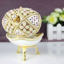 Pearl Flower Design Musical Jewelry Box
