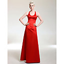 Satin A-line Scoop Floor-length Evening Dress inspired by Jennifer Lawrence at the 83rd Oscar