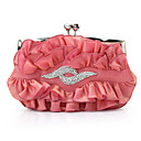 Gorgeous Satin Shell With Austrian Rhinestones Evening Handbags/ Clutches