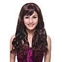 Capless Long High Quality Synthetic Chocolate Brown Curly Hair Wig