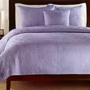 Veena 3pc bedspread set (purple)