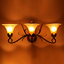 3-lightGlass antique Wall Sconce