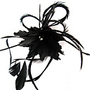  spesiell fascinator med fjr weddding / fest / Bryllupsreise hodeplagget blomst