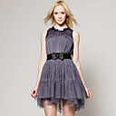 Violet Chiffon Layered Dress