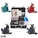 Complete Tattoo Machine Kits with 4 Iron Guns LCD Power and 40 Ink