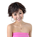 Capless Short High Quality Synthetic Dark Brown Curly Hair Wig