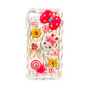 Protective Plastic Back Case with  for iPhone 4 1#