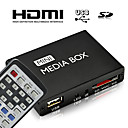 HD mini reproductor multimedia con control remoto, salida hdmi