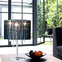 Last 1 Pieces Clearance Sale!40W Crystal Drop Table Light with 3 Lights in Black