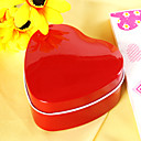 Heart Shaped Red Favor Tin (Set of 12)