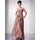 Sheath/ Column Spaghetti Straps Floor-length Silk Satin Ready-to-Wear Evening/ Prom Dress