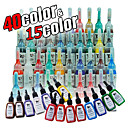 55 Bottles of Tattoo Ink / 15*15mL and 40*5mL