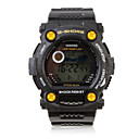 Waterproof Sporty Single Movement Digital Stop Watch with Night Light - Black