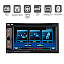 "6.2 ""pantalla digital táctil 2 Din Car DVD-panel desmontable-radio-tv-bt-ipod-gps-control del volante (szc3052)"