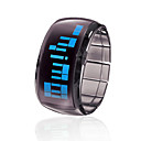 Bracelet Design Futuristic Blue LED Wrist Watch - Black
