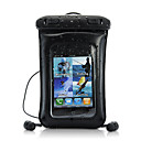 2-in-1 Waterproof Leather Case with Earphone for iPhone, iPod, Android Phone, Mobile Phones and MP4/3 Players