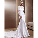 trumpet / mermaid v-neck Kapelle Zug lace wedding dress