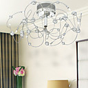 Artistic Metal Ball Decorated Ceiling Light with 10 Lights
