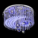 Modern Crystal Flush Mount with 7 Lights