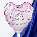 personnalis mariage ballons en forme de coeur - fleur vivace