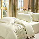 Egyptian Cotton 1600 Tread Count 4-piece Queen-size Duvet Cover Set (White)