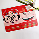 Asian Themed Double Side Pringting Cartoon Bride And Groom Design Guest Book