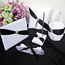 Shimmering Twilight Wedding Collection Set in White and Black Accent (5 Pieces)