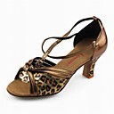 Leatherette Upper Latin Dance Shoes Lovely Metallic Color Ballroom Shoes for Women