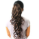 High Quality Synthetic 22.44&quot; Curly Dark Brown Ponytail