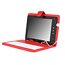 Leather Protective Case with Keyboard + built-in the sliding lock for 8 Inch Tablet PC - Red