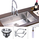 31 inch Undermount Stainless Steel Kitchen Sink (Single Bowl)