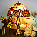 Tiffany Style Table Light with Floral Pattern - Warm Light