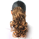 High Quality Synthetic 14.57&quot; Beautiful Curly Dark Brown Ponytail