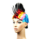 Capless High Quality Synthetic Colorful Cristate Costume Party Wig