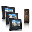 Wired Intercom 7 Inch Touch Screen Video Door Phone with Hidden Camera (1 Camera To 3 Monitors)