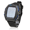 Waterproof Touch Screen EL Light Remote Control Automatic Wrist Watch - Black