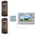 7 Inch LCD Video Door Phone (Pinhole Camera, Support 2 Doors)