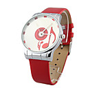 Fabulous Ladies' Quartz Movement PU Round Wrist Watch(More Colors)