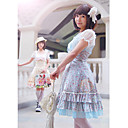 Short Sleeve Knee-length Summer Floral Cotton Sweet Lolita Dress
